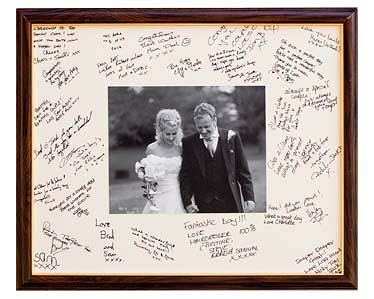 have you ever seen a wedding guest book that wasn 39 t stuck away in a